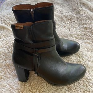 Pikolinos Black Bootie Leather Boots Size 37